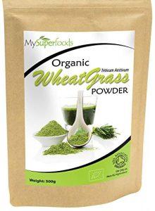 Poudre D'agropyre Biologique (500 grammes) | MySuperFoods | Certifié biologique | Source de vitamine E, calcium, fer, zinc, fibre | Antioxydant puissant | Poudre de la plus haute qualité disponible