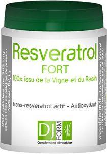 Resvératrol Fort – 100% issu du Raisin – Antioxydant – 180 gélules – Récolté et fabriqué en France