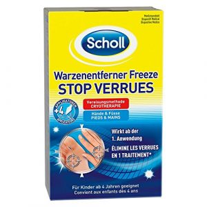 Scholl Stop verrues Freeze pieds et mains traitement par cryothérapie avec applicateurs précision