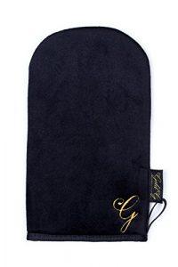 Un bronzage parfait avec des gants autobronzant Gold G | Bronzage sans stries | Gant de bronzage velours double face | Parfait pour les crèmes de bronzage, mousse, lotion, spray.