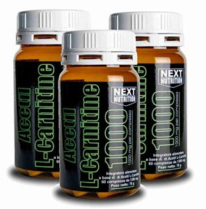 Acetyl L-Carnitine 1000 mg de la combustion des graisses | 3 bouteilles 78 gr 60 comprimés | 1 g par comprimé Minceur Fat Burner | Suppléments pour la perte de poids | brûleur de graisse