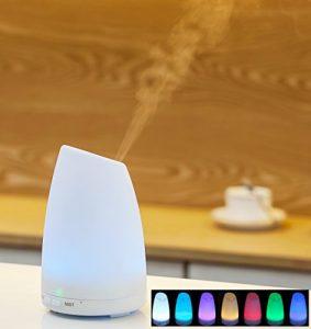 Andvari Diffuseur d'huiles essentielles à ultrasons humidificateur d'air avec lumière d'ambiance et huile essentielle de lavande