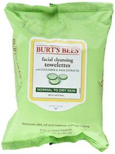 Burts Bees Lingettes nettoyantes pour le visage concombre et Sage 30 Lingettes
