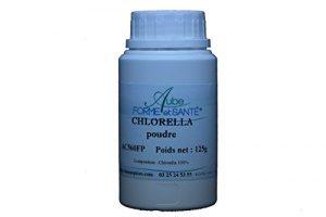 Chlorella en poudre en pot PEHD inviolable de 125 grammes