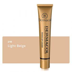 Dermacol DC – Fond de teint Haute couvrance Résistant à l'eau SPF30, Beige clair 210, 30 g