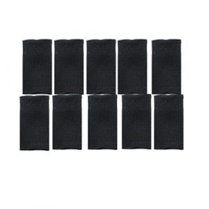 Finger Extensible Noir manches Protector 10 Pcs