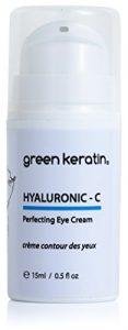 Green Kératine Crème Contour des Yeux à Acide Hyaluronique/Vitamine C