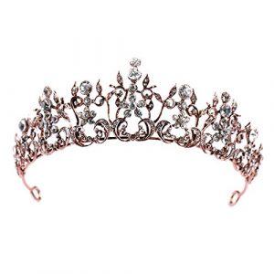 Hbshe mariée Couronne Baroque Luxe Headwear Femme Bijoux Mariage vintage Diadème Ornement
