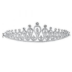 Hbshe mariée Couronne de luxe Headwear Femme Bijoux pour mariage Princesse Diadème Strass
