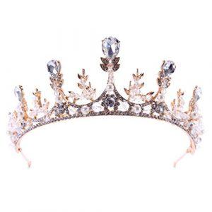 Hbshe mariée Couronne Luxe Vintage Headwear Femme Bijoux Mariage Princesse Tiare Décor
