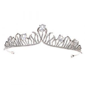 Hbshe mariée Couronne zircon Luxe Headwear Femme Bijoux Mariage Princesse Diadème Ornement