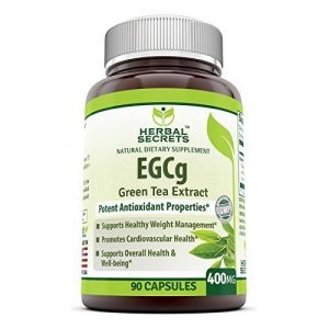 Herbal Secrets Green Tea Extract Supplement with EGCG for Weight Loss 400 Mg 90 Capsules – Natural S