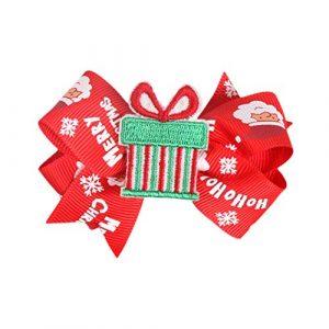 Hosaire 1Pcs Noël Pince à Cheveux Bébé Fille Nœud Papillon Bonhomme de Neige de Noël Barrettes Accessoire de Cheveux Noël Cadeaux Bijoux pour Enfants
