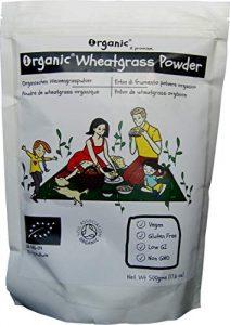 Poudre D'Herbe De Blé/Wheatgrass, l'UE, 100% certifié ORGANIQUE/BIOLOGIQUE / ORGANIC, pur, naturel, 500g