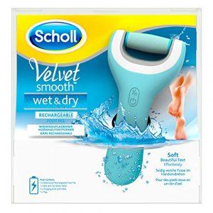 Scholl – Velvet Smooth Express Pedi – Râpe Electrique anti-callosités pour les pieds – Etanche et Rechargeable