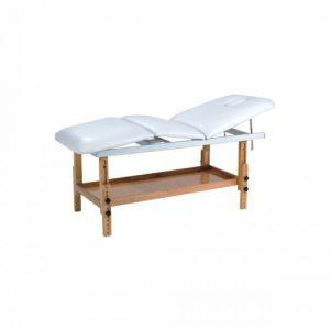 Table de massage fixe bois 3 plans