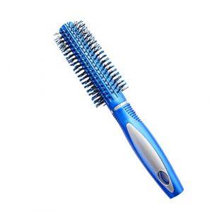 1Buy Portable Blue Hair Brush Peigne De Massage De Forme Cylindrique Femmes Hommes Filles Cheveux Soufflage Peigne Cheveux Longs