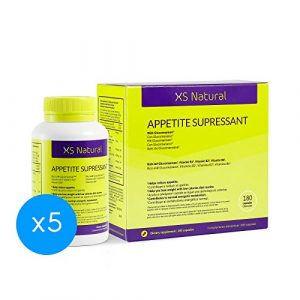 5 XS Natural Appetite Supressant: Pilules coupe faim pour contrôler et réduire l'appét i t