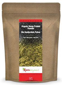 Aktiv Organic Protéine de Chanvre en Poudre, Biologique, 500g, BIO