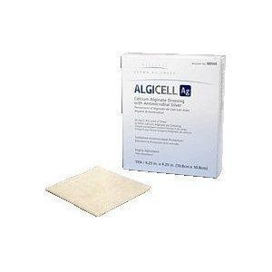 ALGICELL Ag Silver Calcium Alginate – 2″ x 2″ – Box by DermaScience