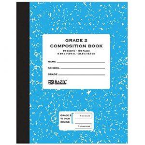 Bazic 50CT Grade 2Primaire Composition Book, Coque Lot de 72