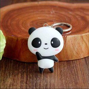 Demino Mignon Panda Cartoon Keychain Porte-clés Sac Pendentif Silicone Animaux Panda Sac À Main Porte-clés Chaîne