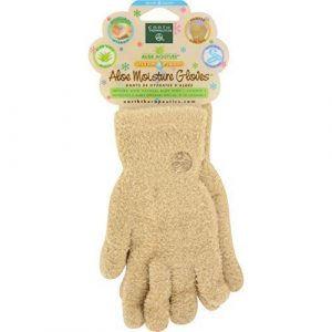 Earth Therapeutics: Aloe Infused Moisture Gloves, Tan (3 pack) by Earth Therapeutics