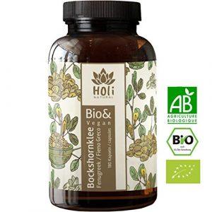 Gélules activées de Fenugrec. 180 gélules véganes. 1500 mg par dose quotidienne – Poudre de graines de Fenugrec 100% naturelle et certifiée biologique. Sans additifs. FABRIQUÉ EN ALLEMAGNE.