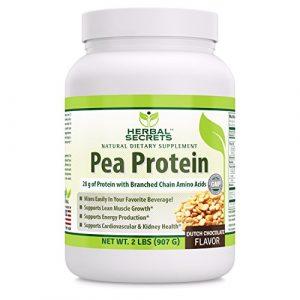Herbal Secrets Pea Protein Powder Dutch Chocolate Flavor 2 Lbs -NON GMO -Vegan protein