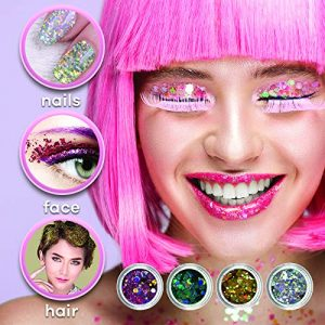 Hilytz Cosmetic Holographic Glitter for Eyes, Face, Hair and Nails Perfect Christmas Gift