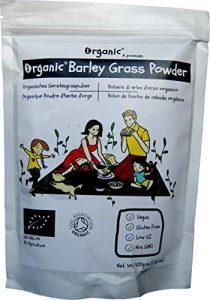 Poudre brute d'herbe d'orge/Barley Grass, l'UE, 100% certifié ORGANIQUE/BIOLOGIQUE / ORGANIC, pur, naturel, 500g
