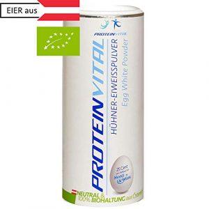 PROTEINVITAL ProtéineDeBlancD'Oeuf |PureEnPoudre100%Naturelle| 500g BIO