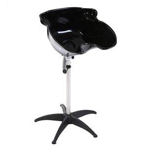 Réglable Bac de Cheveux, Portable Bassin de Cheveux avec le Support de Tube en Acier Inoxydable pour Salon de Coiffure ou Domicile