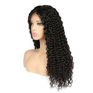 Sun Goddess 250% Profondeur Densité Lace Front Perruque Cheveux Naturels Des Femmes Noires Au Brésil Remy Hair Lace Wig,Naturel,24Cm