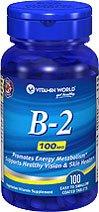 Vitamine B-2 Riboflavine 100 mg 100 comprimés