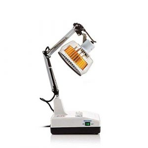 WTU® Lampe de Physiothérapie Infrarouge Électromagnétique Wave Appareil de Physiothérapie Fournit un chauffage d'acupuncture et une thérapie de guérison, douleurs de dos, douleurs articulaires, 150 W
