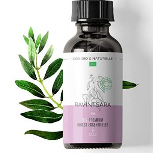 15ml Huile essentielle de Ravintsara BIO – Cinnamomum camphora – Cultivée au Madagascar – 100% Pure, Naturelle et Biologique – Embouteillée en France