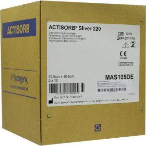 ACTi Sorb 220Silver Compresses stériles 50compresses 10,5x 10,5cm