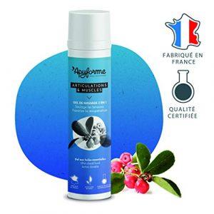 Apyforme – Gel de massage 2 en 1 – Gel de massage aux 7 huiles essentielles – Gel anti-douleur muscles et articulations – Récupération musculaire – Made in France