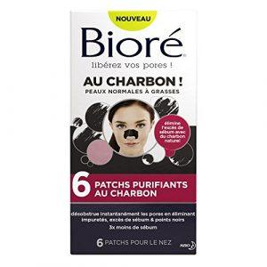 BIORÉ Set de 6 Patchs Purifiants au Charbon