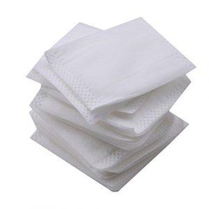 Kemai 50pcs démaquillantes Lait, doux Cosmétique Tampons de coton pour maquillage du visage Nettoyage Coton jetables Serviettes pour le visage