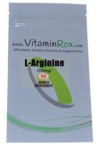 L-Arginine [500mg] – 90 Capsules Paquet Refermable | Supplément de Sport