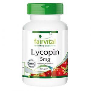 Lycopène 5mg – boite de 3 mois – végan – dosage élevé – 90 capsules – à partir d'extrait de tomate