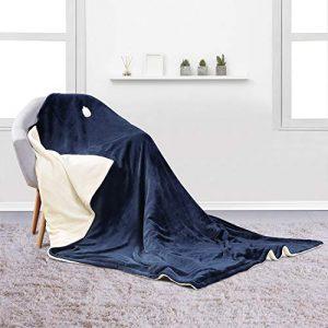 MaxKare Couverture Chauffante 130 * 180 cm, Ultra-douce et Respirant Couverture Électrique Chauffant avec 6 Niveaux de Température, Protection Contre la surchauffe, Lavable en Machine