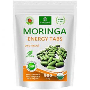 Moringa 240 Energy Tabs 950 mg, 100% naturel (1×240 comprimés)