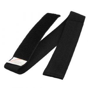 Noir Nylon élastique Jeu Crochet Boucle Fastener 3 Legged Tie Race