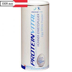 PROTEINVITAL ProtéineDeBlanc |D'OeufPureEnPoudre| 100%Naturelle500g Elevage Au Sol