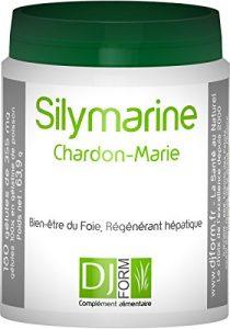 Silymarine – Extrait de Chardon Marie – 180 gélules – Protection hépatique, Detox foie, Digestion – Fabriqué en France