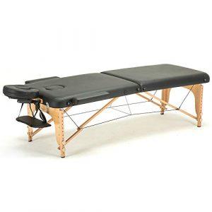 XIAOLONGY 2 Lit De Massage Pliant Beauté Acupuncture Feu Thérapie Tatouage 70CM Large Lit De Massage Santé Broderie Corps,Blackbed