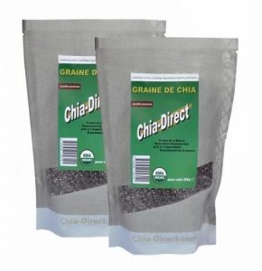 1kg graine de chia bio – Lot de 2 x 500g